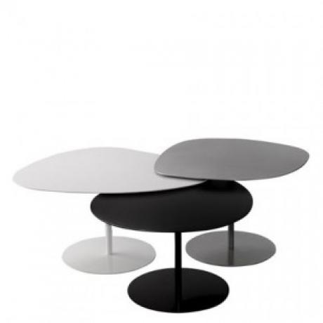 Table basse 3 galets - Matière Grise